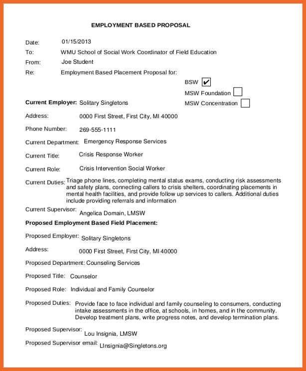 job proposal sample | sop example