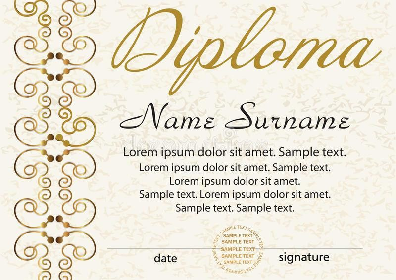 Diploma Or Certificate Template. Award Winner. Reward. Winning T ...
