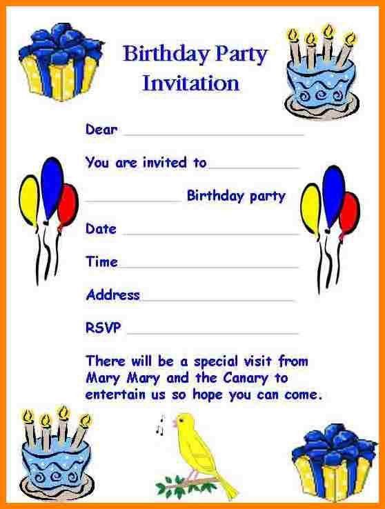 8+ invitation letter sample for birthday party | farmer resume