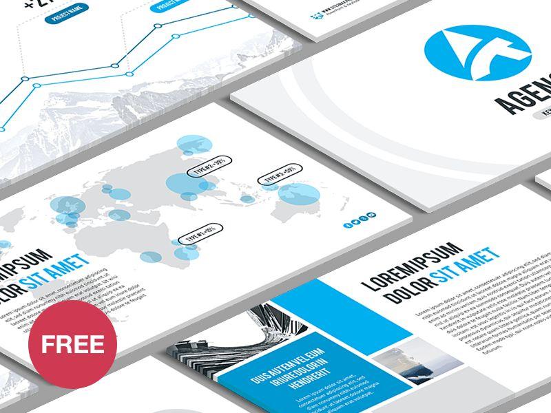 Free Keynote template: Agency by hislide.io - Dribbble
