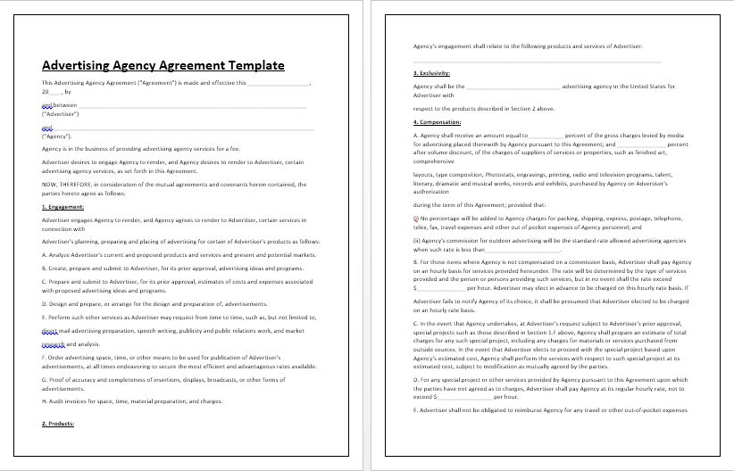 Advertising Agency Agreement Template | Tips & Guidelines