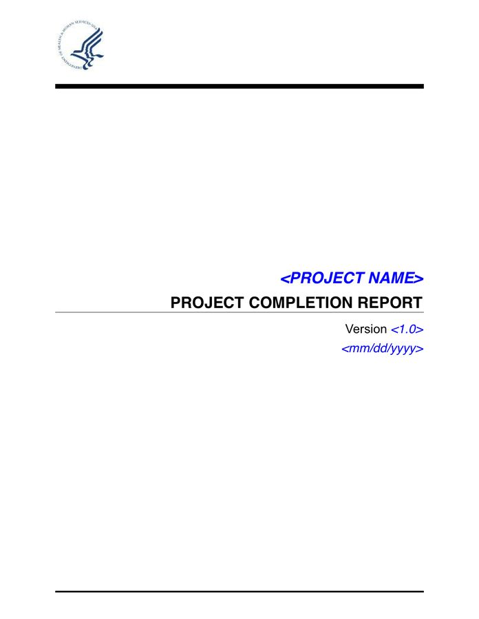 Project Completion Report in Word and Pdf formats