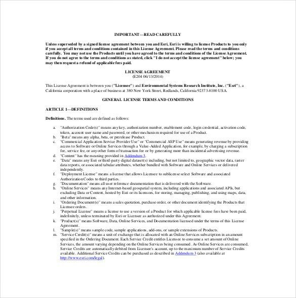 13+ License Agreement Templates – Free Sample, Example, Format ...