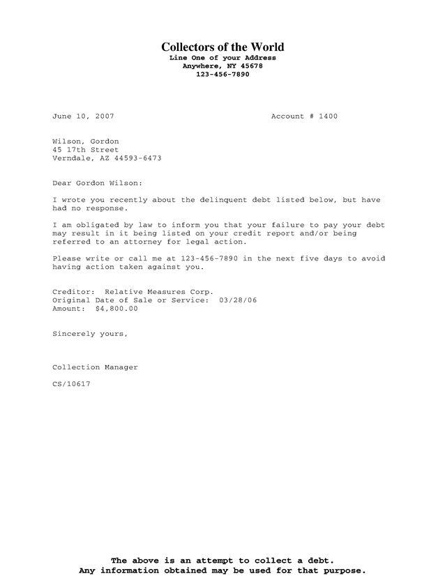 Downloads - Group Debtor Letter - Cosigner Example