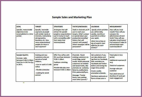 SALES PLAN TEMPLATE | designproposalexample.com