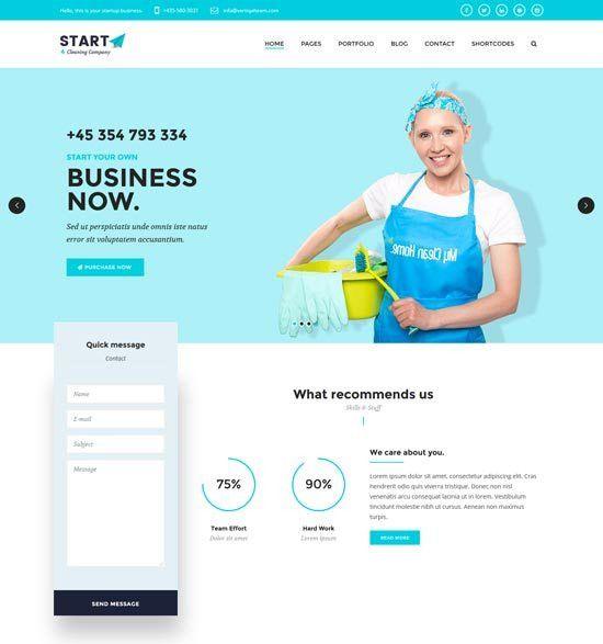 15+ Best Cleaning Company WordPress themes 2017 - freshDesignweb