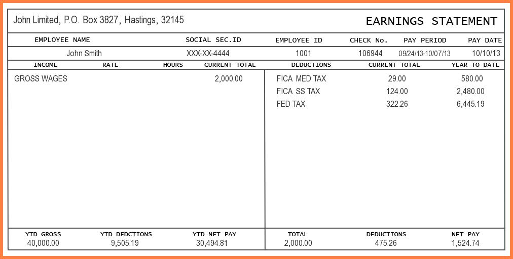 8+ blank pay stub template pdf | Samples of Paystubs