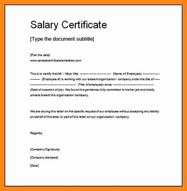 9+ format for salary certificate | graphic-resume