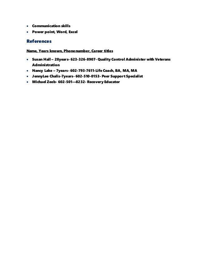 R Terry Brydon Cosmetology Resume