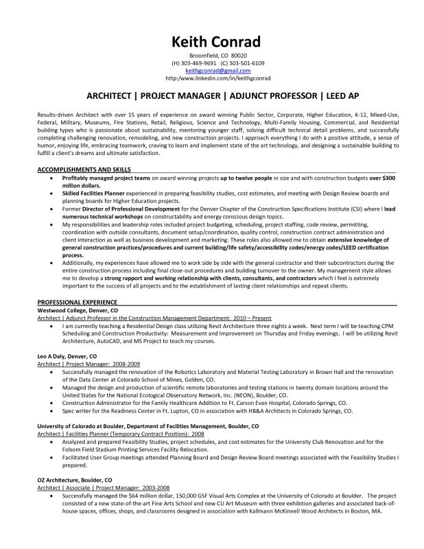 Architectural Project Manager Job Description] Architectural