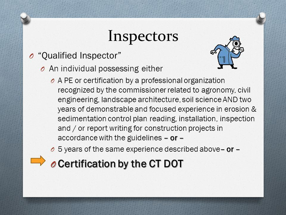 CT DOT 2014 Qualified Inspector Training - ppt download