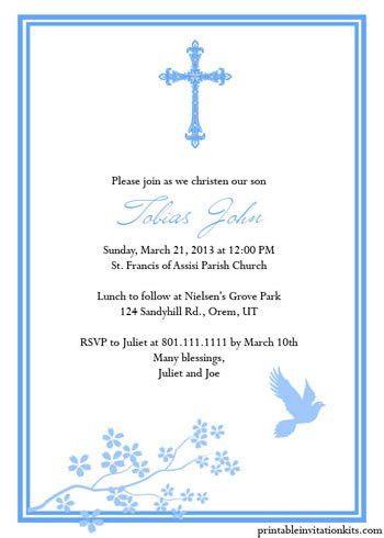free printable religious invitation templates | ... Please click ...