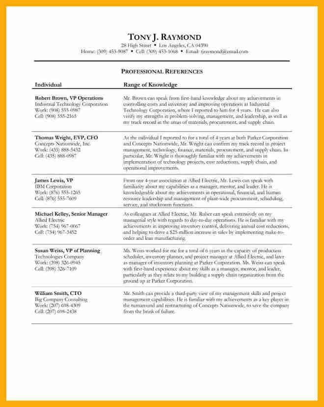 8+ professional references example | data analyst resumes