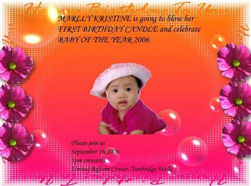 Birthday Card Invitation Sample No. 11 | perfect color combi… | Flickr