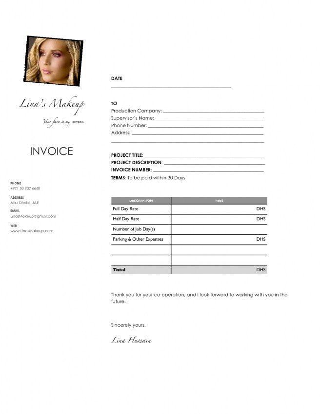 Makeup Artist Invoice Template Free - Mugeek Vidalondon