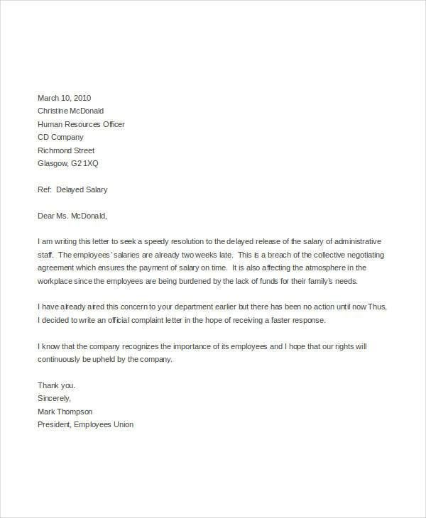 Complaint Letter Templates in Word - 28+ Free Word, PDF Documents ...