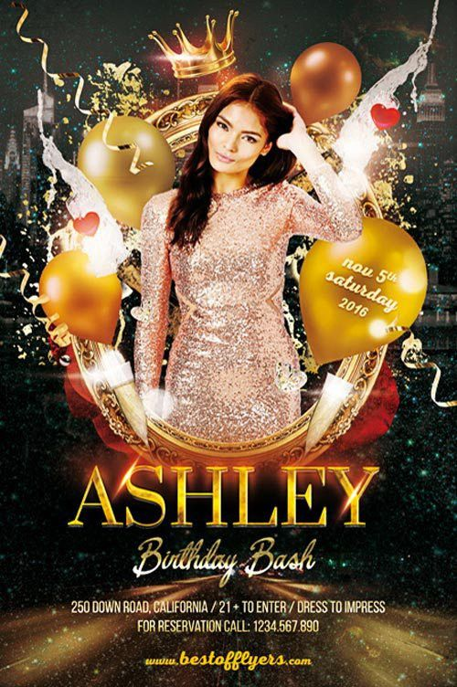Birthday Bash Party Flyer Template - Download Birthday Party Flyer ...
