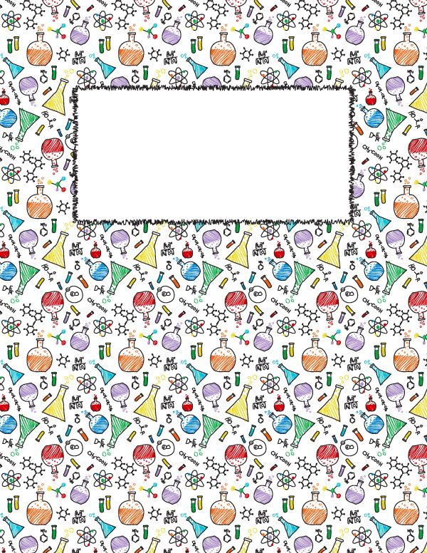 Free printable chemistry binder cover template. Download the cover ...