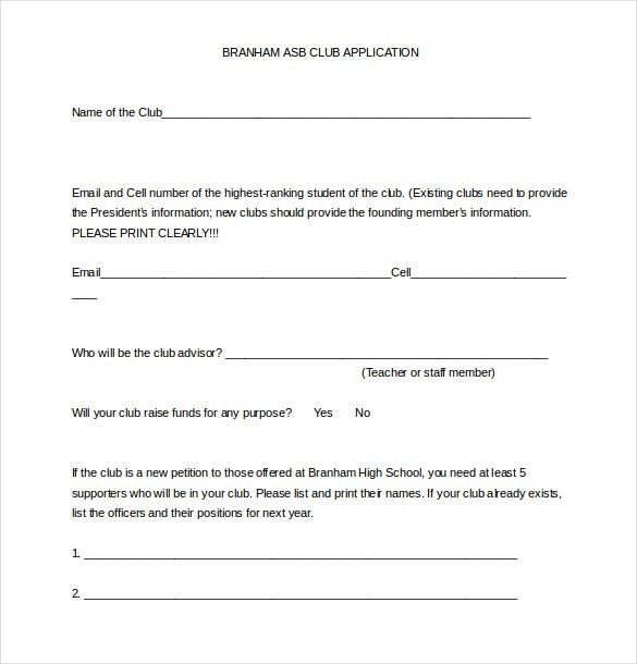 Sample School Registration Form School Registration Form Template ...