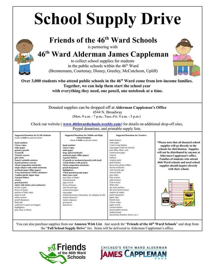 Friends of the 46th Ward Schools - Home