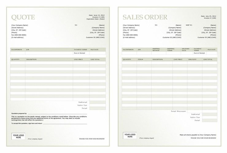 TemplateQuote Sheet Template. Business Quote Templates | Documents ...