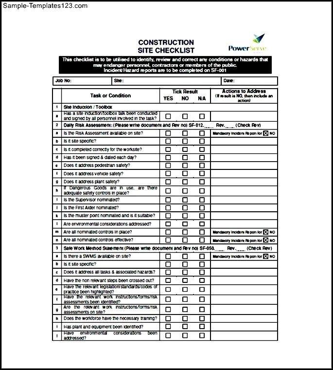 Conspect Snag List Template Snag List Report Sample Snag Sample ...