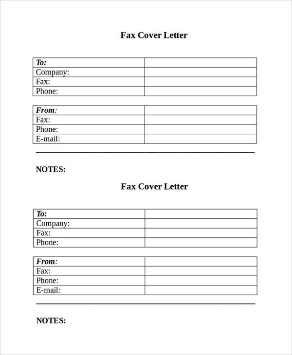 Sample Fax Cover Letter - 7+ Documents in PDF, Word