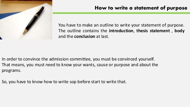How to write a good statement of purpose (sample)