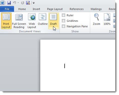 How to Speed Up Microsoft Word 2007 and 2010