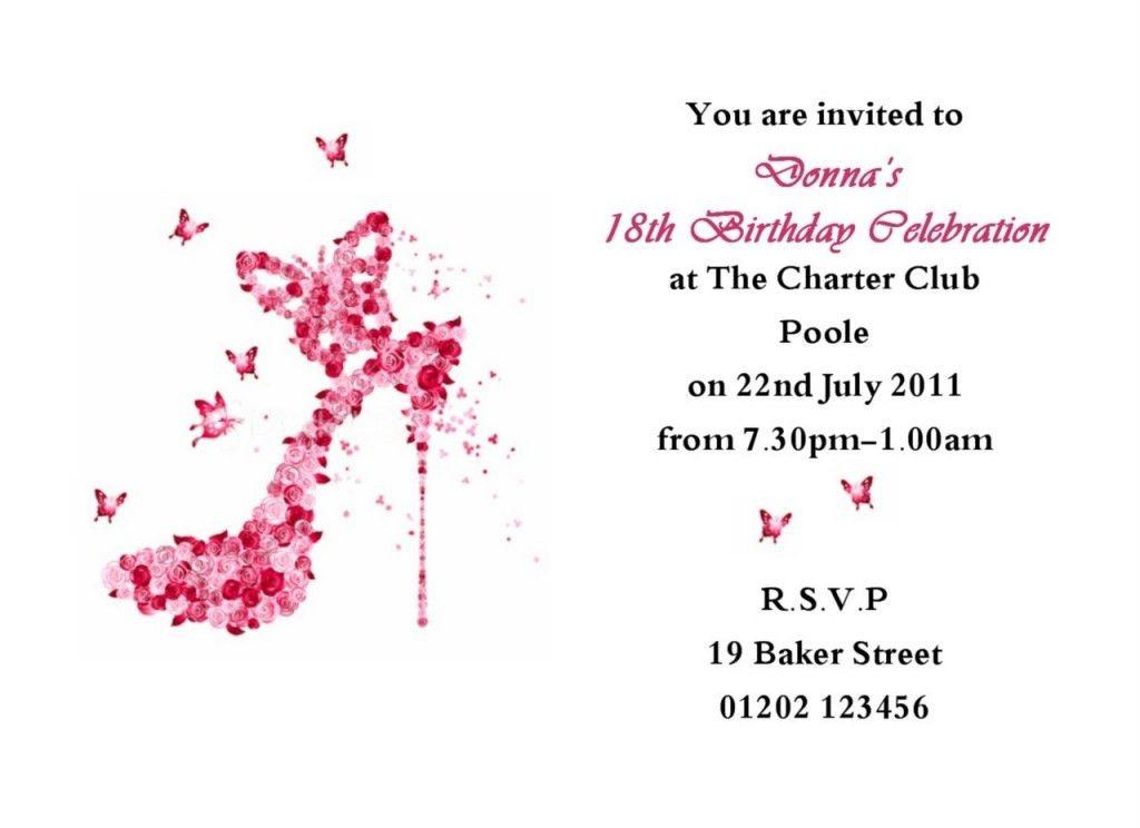 16th Birthday Invitation Templatestes Birthday Invitations ...