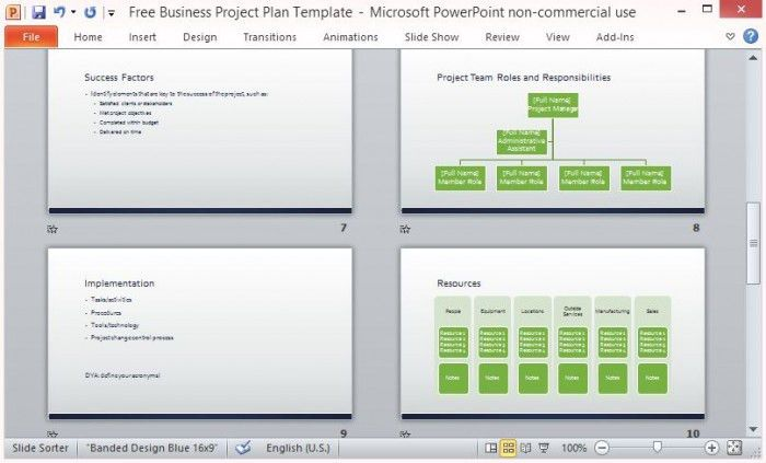 Free Business Project Plan Template for Microsoft PowerPoint