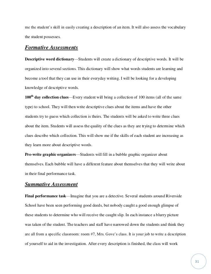 Work sample first grade detective descriptives writing workshop tasha…