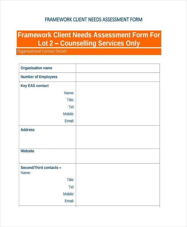 7+ Client Assessment Form Samples   Free Sample, Example Format .