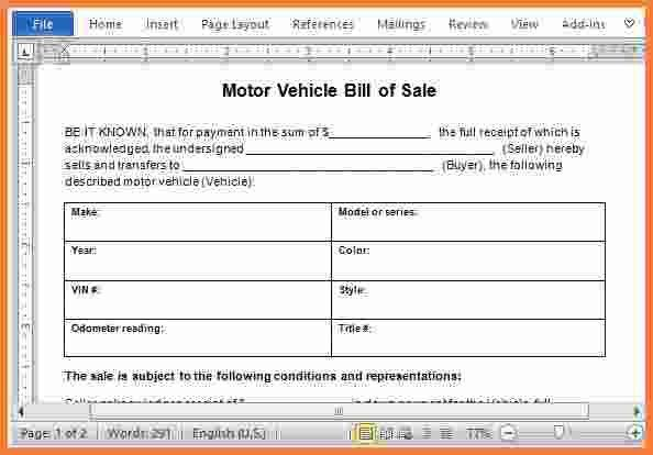 8+ auto bill of sale word doc | Stationery Bills