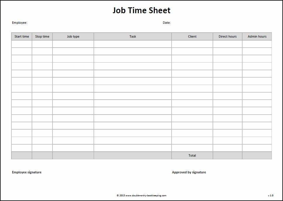 Manual Timesheet Template - Corpedo.com