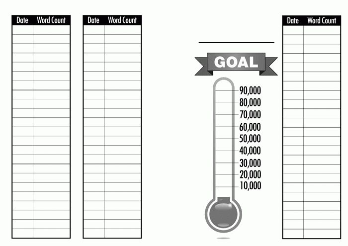 A5 Planner Sheet: Daily To Do list w/ word count & goals