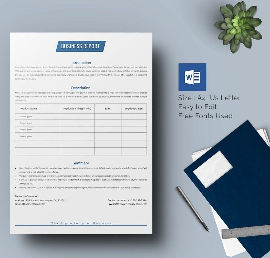 Word Report Templates Papers And Reports Officecom 17 Business – Business Report Template Word