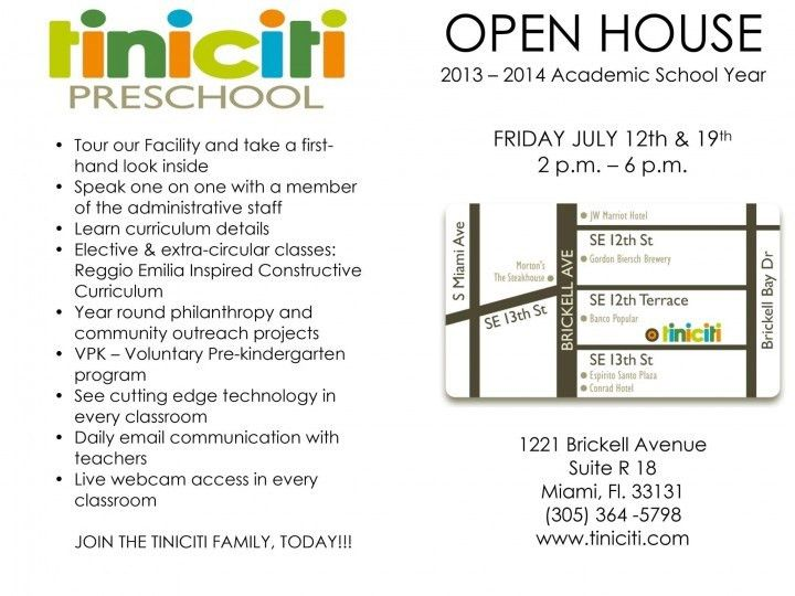 Preschool Open House Miami, FL #Kids #Events | open house ...