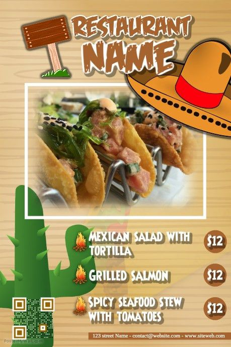 Customizable Design Templates for Mexican Restaurant | PosterMyWall