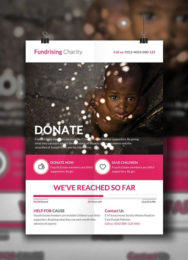 Charity Donation Flyer Template on Behance | Yetu | Pinterest ...