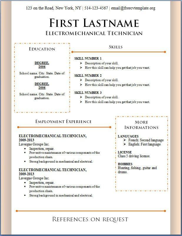 Curriculum Vitae Resume Samples Download Curriculum Vitae Sample ...