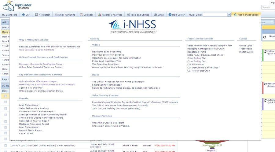 Sales Acceleration System - CRM - I-NHSS