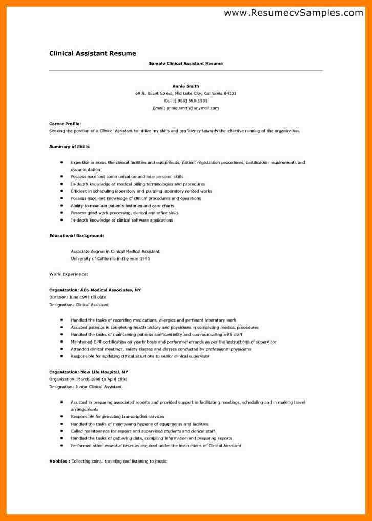 Resume Templates For Medical Assistant. Certified Medical ...