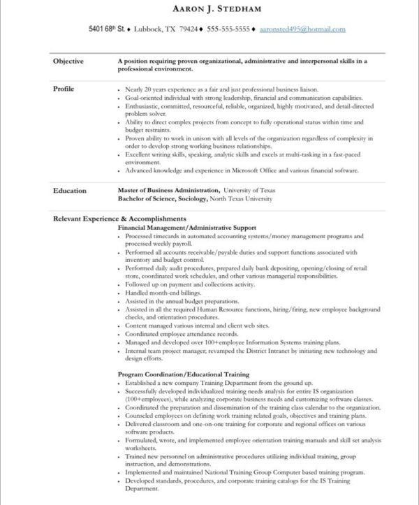 Outstanding Executive Administrative Assistant Resume Template ...