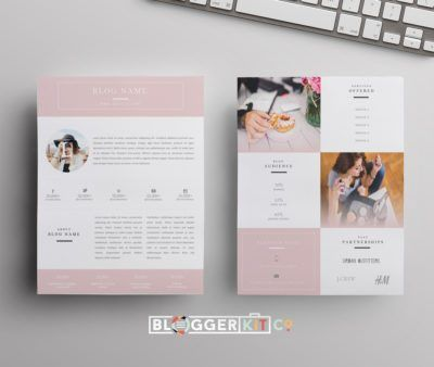 Freebies | DIY Media Kit Templates + Blogging Tips | Blogger Kit Co.
