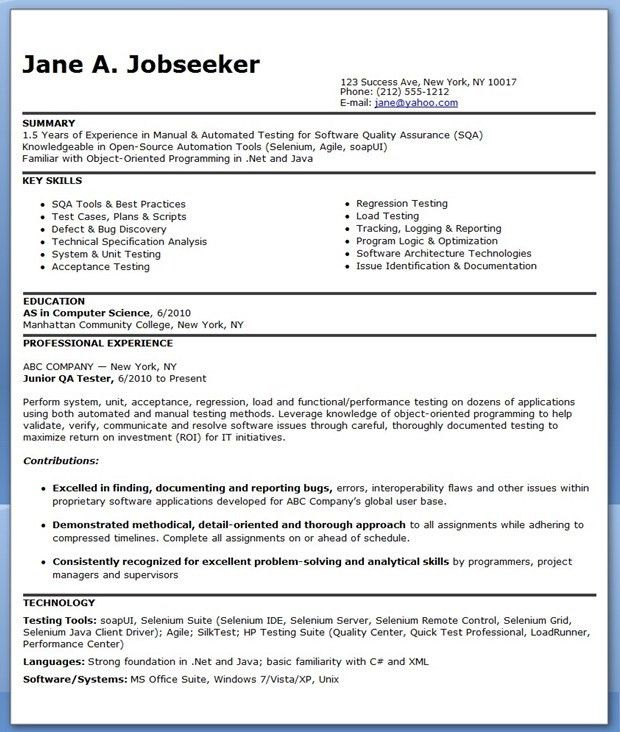 Splendid Design Qa Tester Resume 6 Examples Software Quality ...