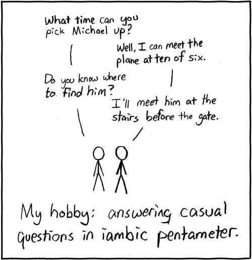 79: Iambic Pentameter - explain xkcd
