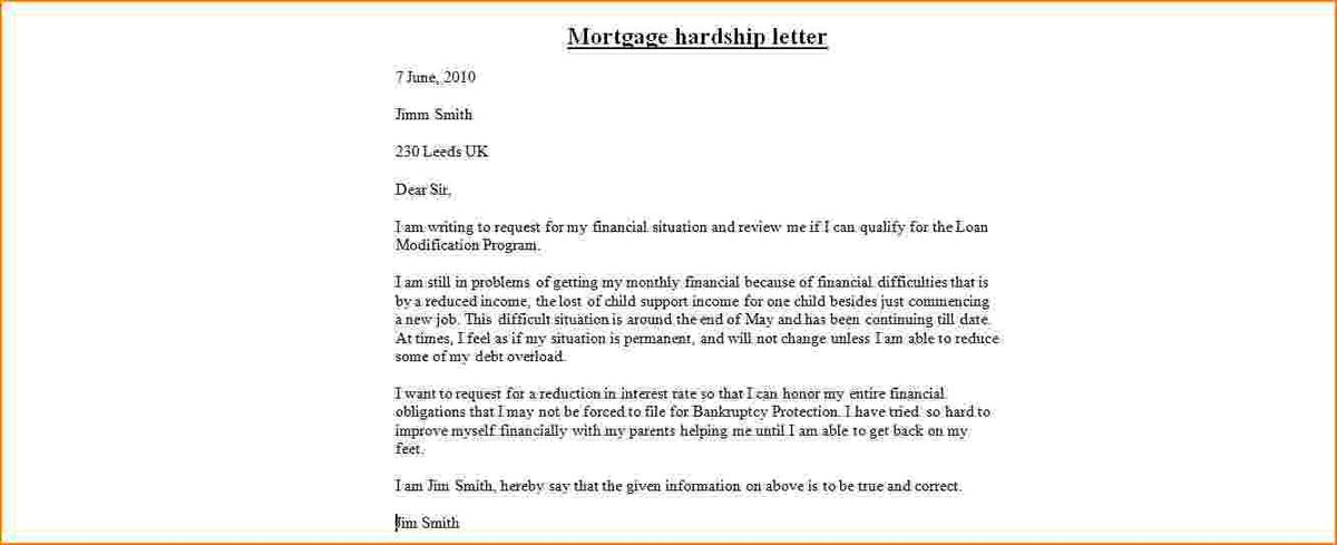 9+ hardship letter sample | bibliography format