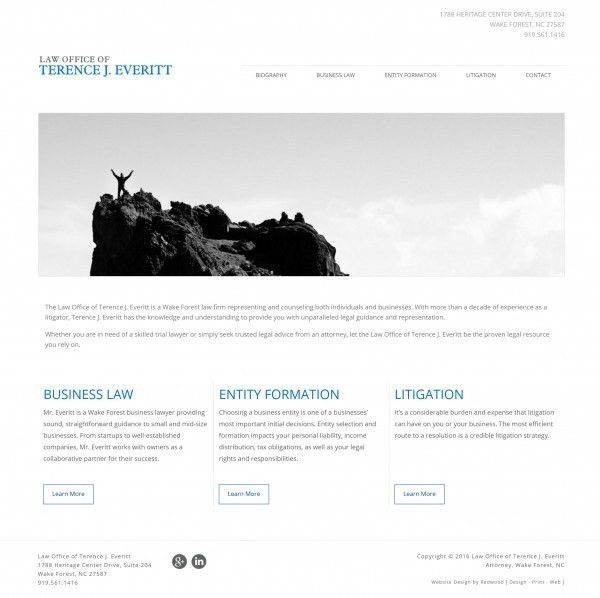 Redwood | Website Designer For: Law Office of Terence Everitt
