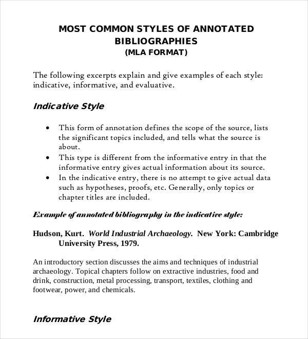Annotated Bibliography Generator Template - 16+ Examples in PDF ...